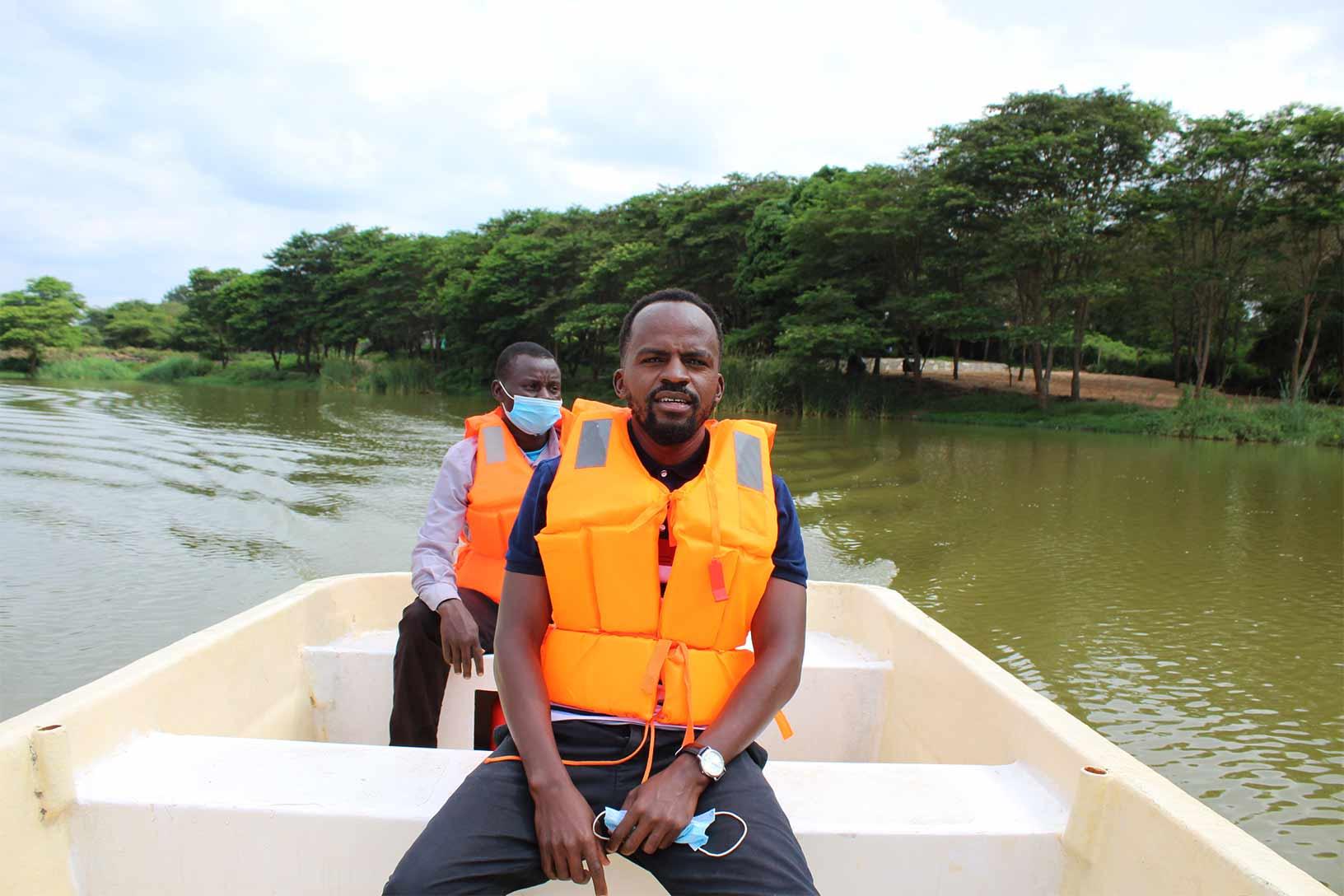 Kalundu Eco Park Boat Ride with a Tourist