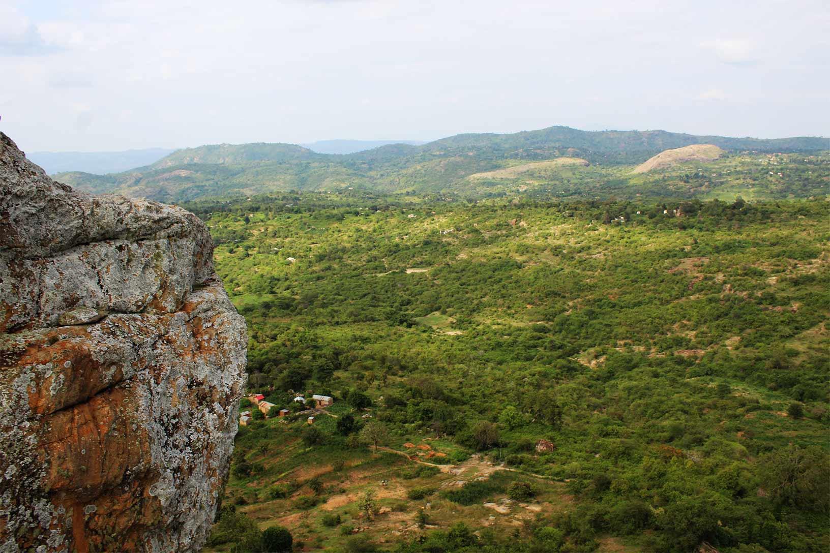 Nzambani Rock Side View