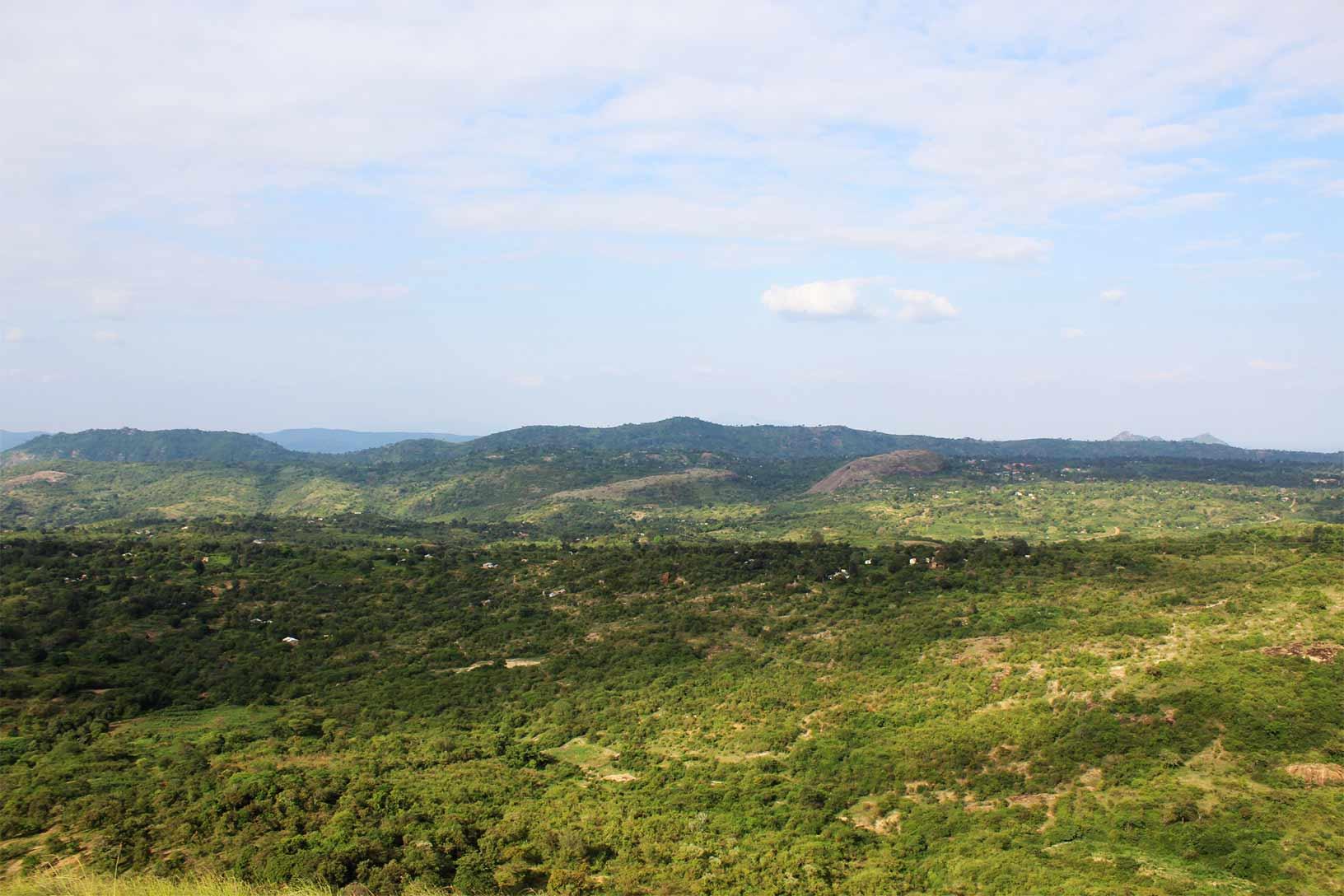 Nzambani Rock Top View 3